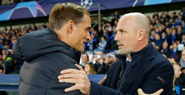 Tüchel is vol lof over Club Brugge: Tegen zo'n ploeg moet je afzien