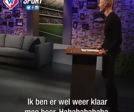 Beugelsdijk maakt 'debuut' als sportpresentator: 'Ben er weer klaar mee, hahaha'