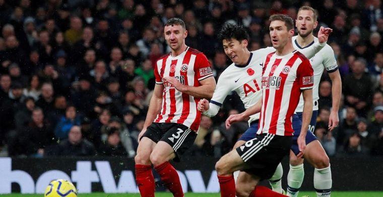 Dramatisch Tottenham wint ondanks hulp van VAR thuis niet van Sheffield United