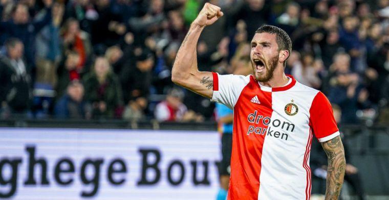 Senesi beslist spectaculair treffen met RKC: Feyenoord wint toch na valse start
