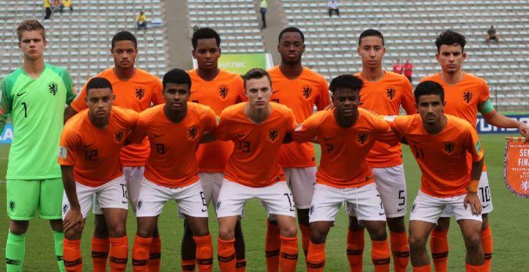 U17 van Nederland na zinderende strafschoppenserie uitgeschakeld op WK