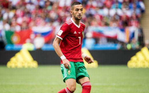 Afbeelding: Ziyech voor het eerst aanvoerder van Marokko tijdens teleurstellend gelijkspel