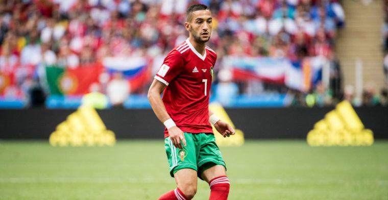 Ziyech voor het eerst aanvoerder van Marokko tijdens teleurstellend gelijkspel