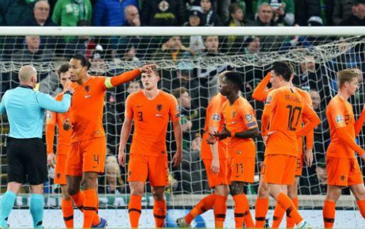 Afbeelding: Oranje neemt genoegen met franjeloze 0-0 in Belfast en mag zich melden op het EK