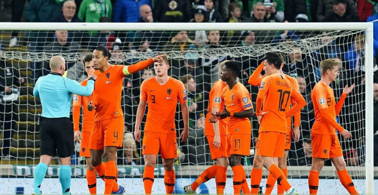 Oranje neemt genoegen met franjeloze 0-0 in Belfast en mag zich melden op het EK