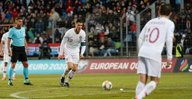 Niet fitte Ronaldo 'offerde zichzelf op' voor Portugal: Ik ben momenteel beperkt