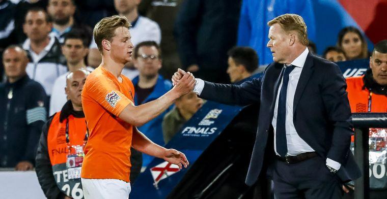 Lof in Nederlandse kranten voor Koeman en Frenkie de Jong: 'Een godsgeschenk'