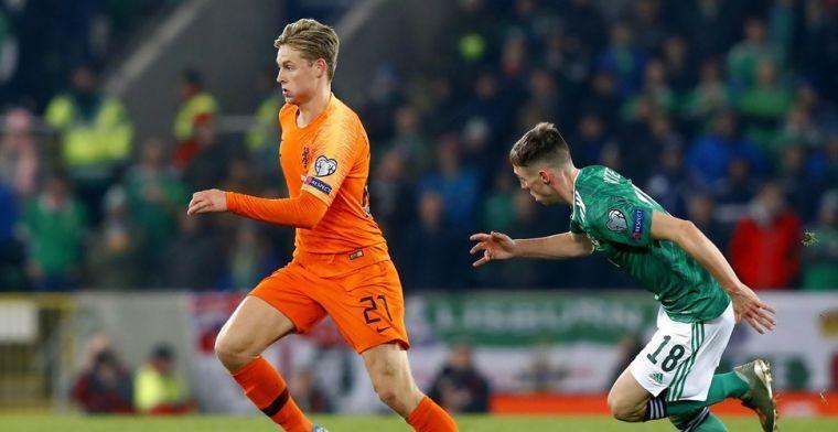 De Jong ziet Oranje als kanshebber op EK 2020: 'Aan kwartfinale heb je niets'