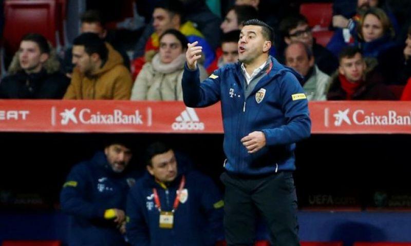 Afbeelding: Roemeense bondscoach stapt op na afstraffing tegen Spanje: