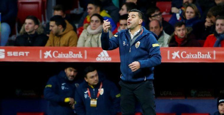 Roemeense bondscoach stapt op na afstraffing tegen Spanje: Het spijt me