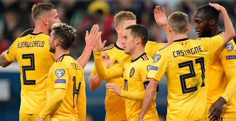 """Hazard noemt vijf favorieten voor EK: """"Wij zijn onder de favorieten, dat zeker"""""""
