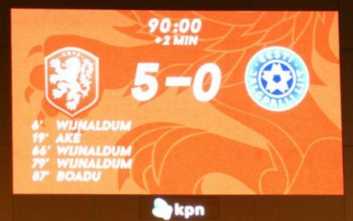 UEFA ziet 'replay on giant screen' tijdens Nederland-Estland en dreigt met actie