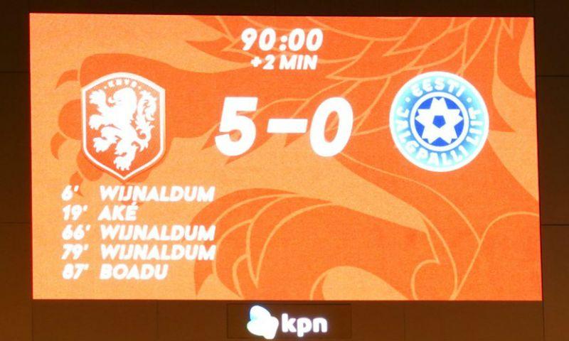 Afbeelding: UEFA ziet 'replay on giant screen' tijdens Nederland-Estland en dreigt met actie