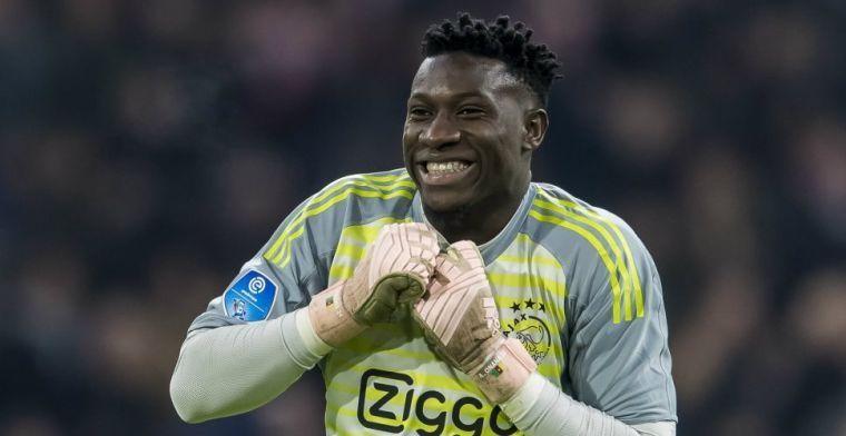Ajax-doelman Onana ziet amper zwarte doelmannen: 'Ze vertrouwen ons niet'