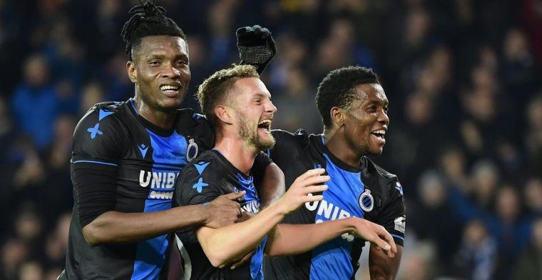 Frommelgoals en rode kaart voor Vargas zorgen voor makkelijke winst Club Brugge