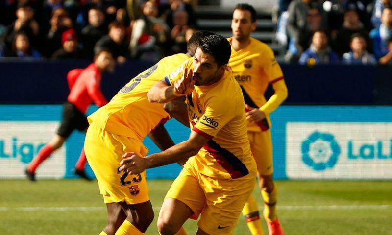 Afbeelding: Barcelona komt met de schrik vrij tegen hekkensluiter Leganes na klutsgoal Vidal