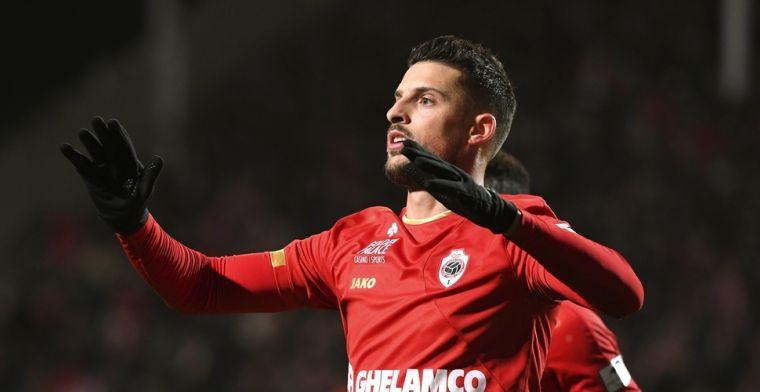 Antwerp heist zich naar tweede plek na doelpunt Mirallas en zege tegen KVM
