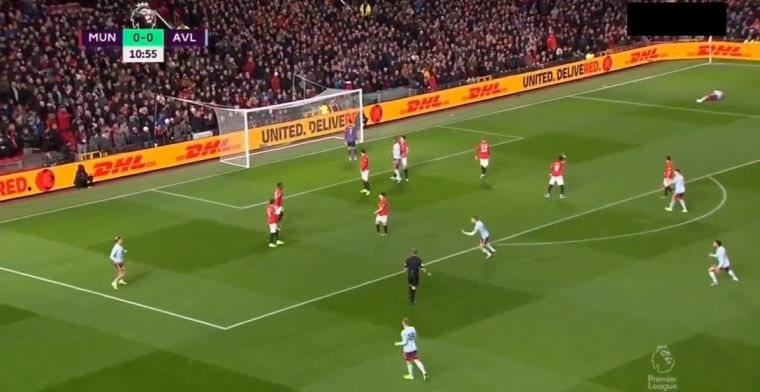 Aston Villa-ster Grealish verbijstert De Gea op Old Trafford met geniale boogbal