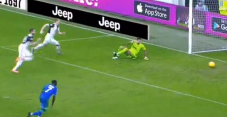 Buffon zwaar in de fout bij Juve: Caputo maakt 2-1 voor Sassuolo