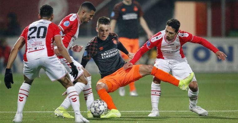 Ook Emmen snoept PSV punten af en voert de druk op Van Bommel op