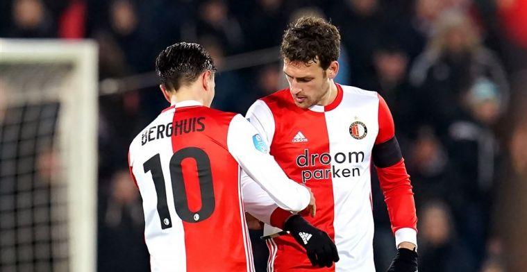 'Berghuis traint niet mee bij Feyenoord, wedstrijd in Arnhem is nog onzeker'