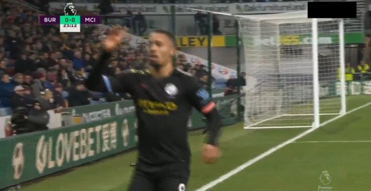 GOAL: Burnley-uit op dinsdag: Gabriel Jesus krult de bal lekker binnen voor City