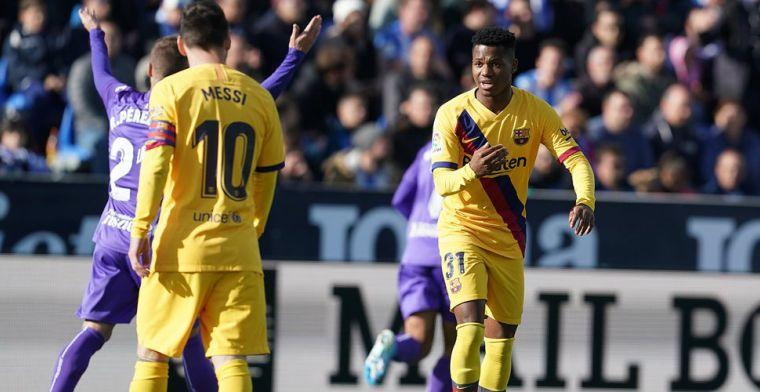 Contractnieuws van Barça: voorzitter Bartomeu en supertalent Fati schudden handen