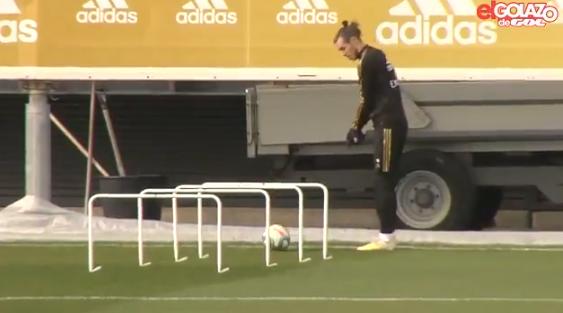 Bale gooit olie op het vuur en 'golft' op training van Real Madrid