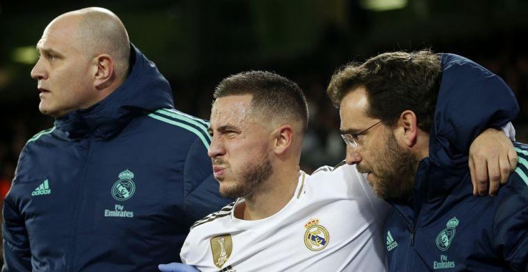 Hazard opnieuw weken out bij Real Madrid, tot grote teleurstelling van Zidane