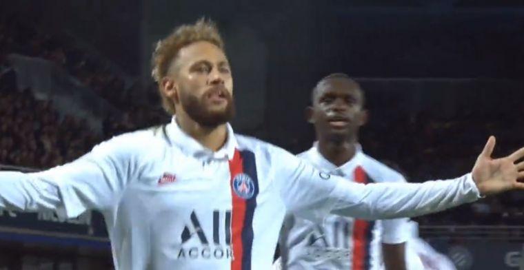 PSG met schrik vrij dankzij supervoorhoede: Neymar maakt schitterende vrije trap