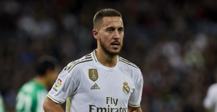 Zorgwekkende beelden voor Real Madrid: Hazard nog steeds op krukken