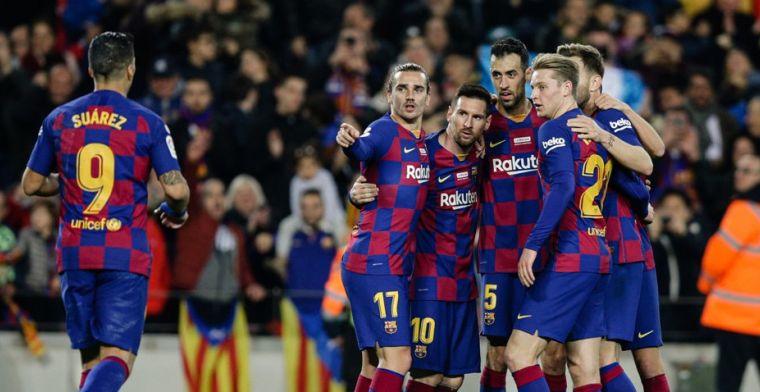 Barcelona wervelt langs Mallorca: wondergoal Suárez en hattrick Messi