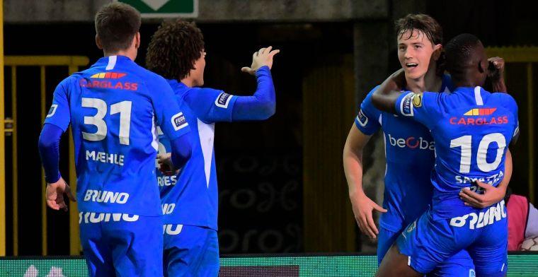 KRC Genk wint gevleid bij rode lantaarn Cercle Brugge