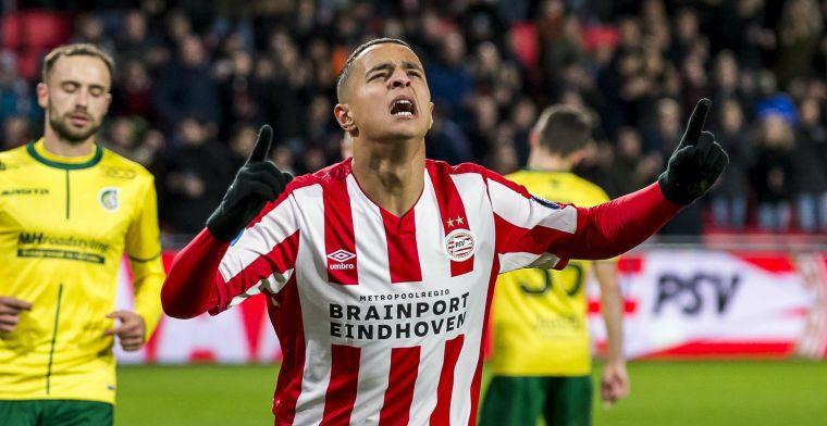Feestavond in Eindhoven: PSV scoort vijf keer bij rentree Afellay