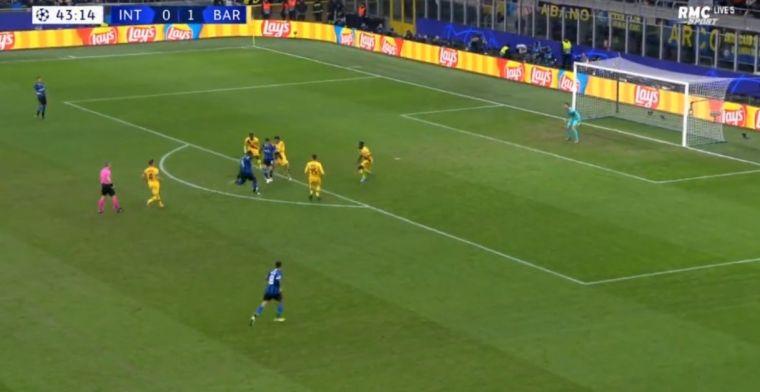 GOAL! Lukaku scoort tegen Barcelona en brengt Inter op gelijke hoogte