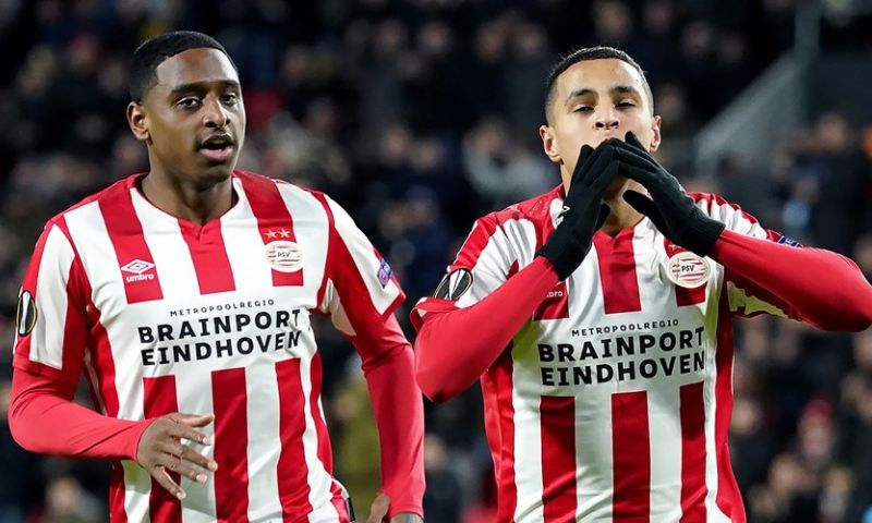 Afbeelding: Inspiratieloos PSV besluit Europees seizoen 'in stijl': goal Ihattaren lichtpuntje