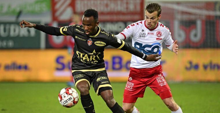 KV Kortrijk geeft voorsprong tegen Moeskroen nog uit handen