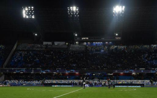 Afbeelding: Flinke schade aan Stadio San Paolo: wedstrijd Napoli-Parma met halfuur uitgesteld