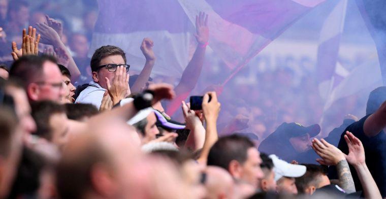 Fans van Anderlecht geven ploeg laatste steuntje in de rug richting Luik
