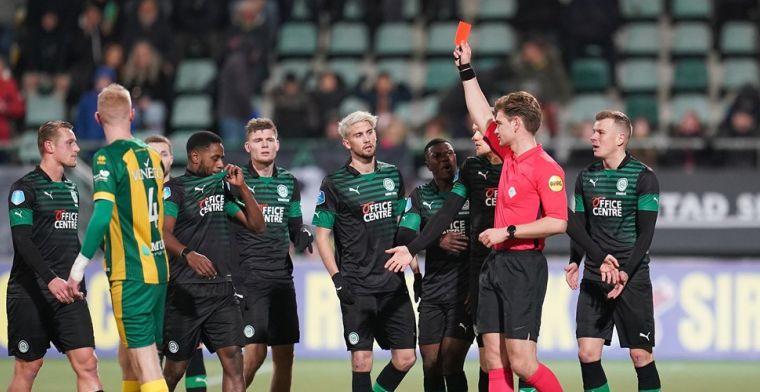 Groningen-back Zeefuik: 'Arbiter Kooij deed niets tegen oerwoudgeluiden fans ADO'