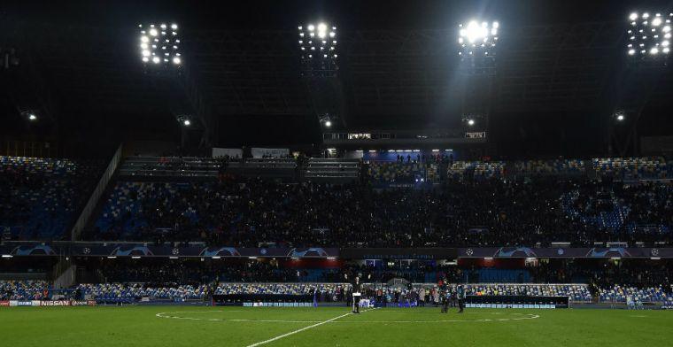 Flinke schade aan Stadio San Paolo: wedstrijd Napoli-Parma met halfuur uitgesteld