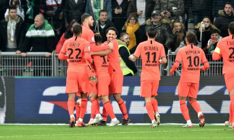 Afbeelding: Paris Saint-Germain ondanks gemiste penalty van Neymar simpel langs Saint-Étienne