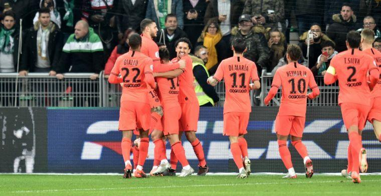 Paris Saint-Germain ondanks gemiste penalty van Neymar simpel langs Saint-Étienne