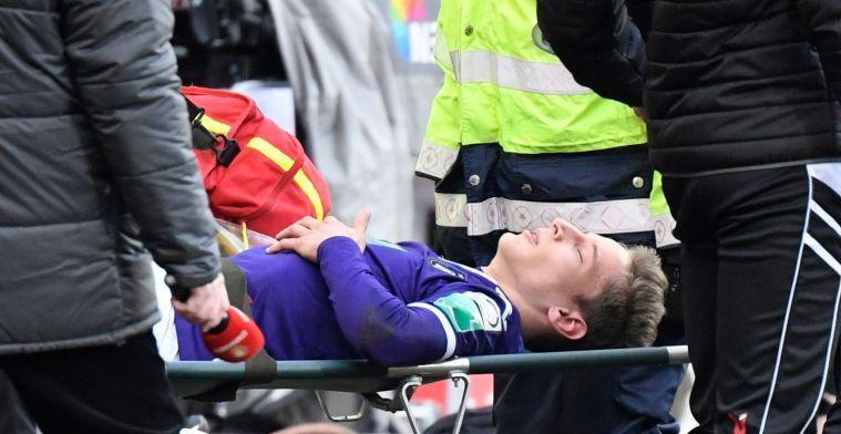 UPDATE: Verschaeren met krukken gespot bij Anderlecht
