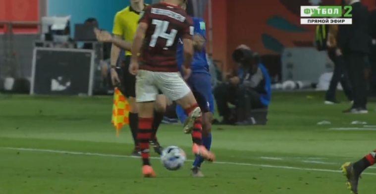 Kortsluiting op WK voor clubs: belachelijke schop van gefrustreerde Peruviaan