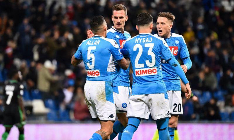 Afbeelding: Napoli wint in blessuretijd van Sassuolo, Atalanta vernedert AC Milan