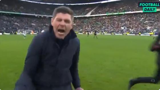 Pure passie: Gerrard gaat los na Rangers-stunt in Old Firm tegen Celtic