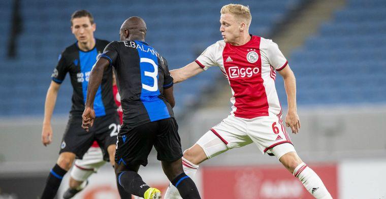 Van de Beek gaat voorlopig niet in op avances: 'Ik zal Ajax nu niet verlaten'