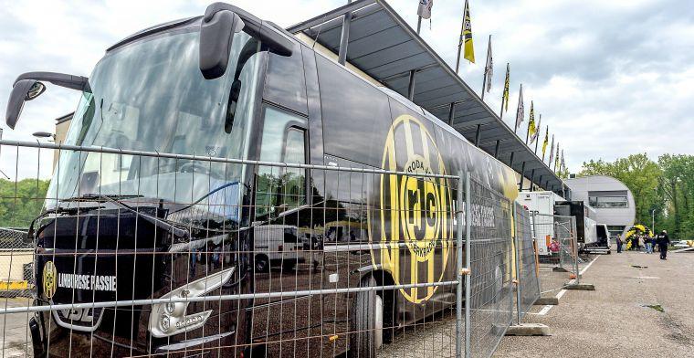 Vervelende aanloop naar Limburgse derby: spelersbus Roda vernield en beklad