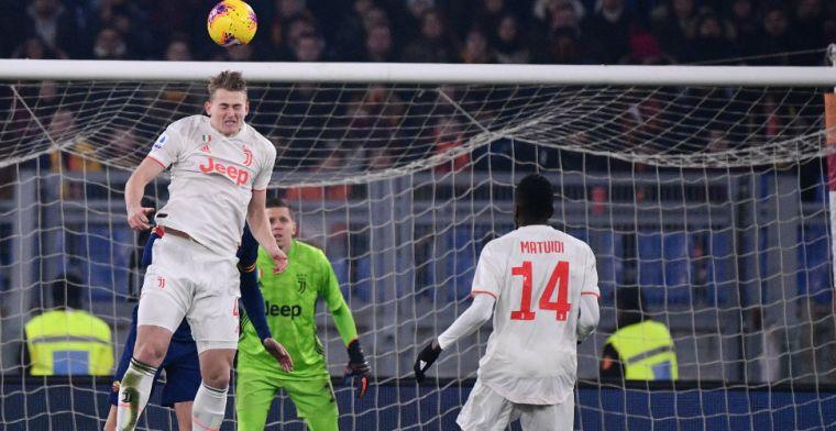 Juventus wint topper tegen AS Roma, De Ligt krijgt kans na blessure Demiral